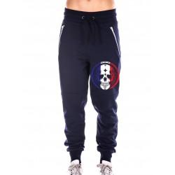 Boutique Jogging sport Femme Crossfit - Navy Bleu Pants French skull