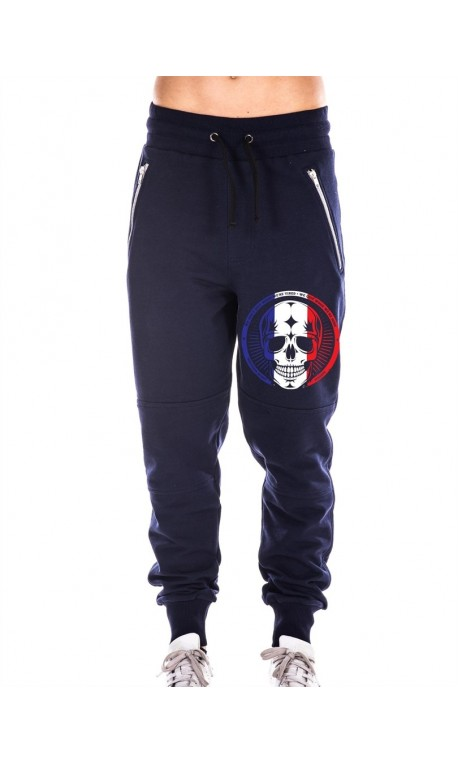 Boutique Jogging sport Femme - Navy Bleu Pants French skull