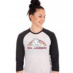 T-shirt Manches 3/4 Femme Blanc Licorne pour CrossFiteuse - NORTHERN SPIRIT