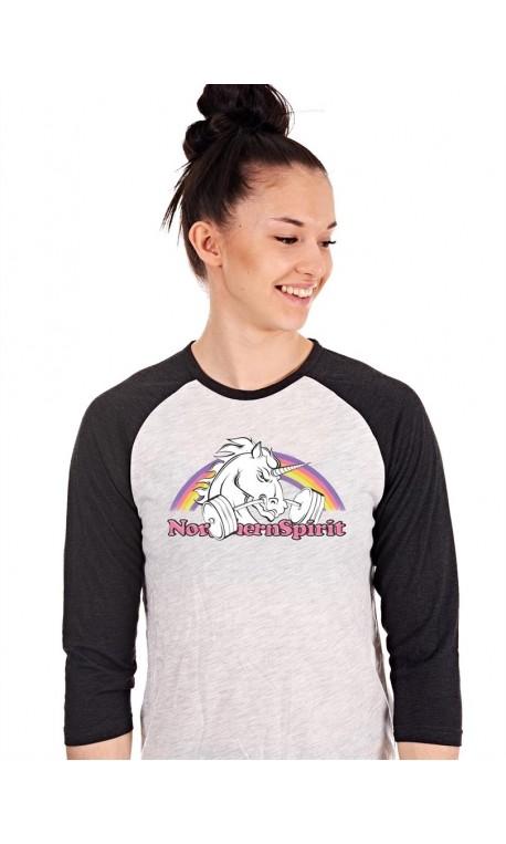 Boutique T-shirt Crossfit Manches longues Femme - 3/4 Licorne