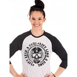 T-shirt Manches 3/4 Femme Blanc Lift pour CrossFiteuse - NORTHERN SPIRIT