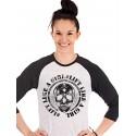 T-shirt CrossFit Manches 3/4 Femme Noir Blanc Lift like a girl