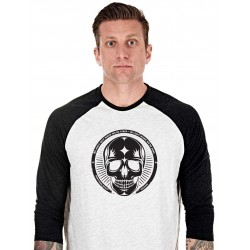 T-shirt Manches 3/4 Homme Blanc Skull pour CrossFiteur - NORTHERN SPIRIT