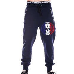 Jogging Homme Bleu French Skull pour CrossFiteuse by NORTHERN SPIRIT