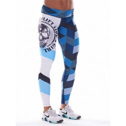 Training legging blue GRAPHIC for women - NORTHERN SPIRIT