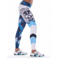 Training legging blue GRAPHIC for women - NORTHERN SPIRIT