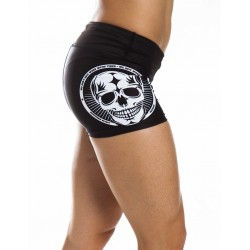 Training short black SKULL for women - NORTHERN SPIRIT