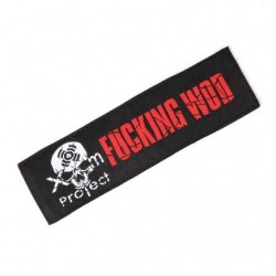 Patch broderie velcro FUXKING WOD pour athlète by XOOM PROJECT