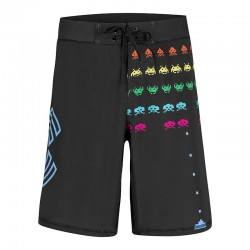 Training short black SPACE INVADERS for men - XOOM PROJECT