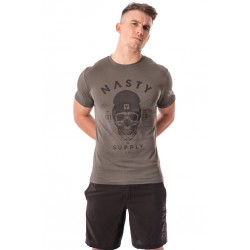 T-Shirt Homme Gris SKULL DarkShadow pour CrossFiteur - NASTY