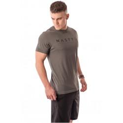 T-Shirt Homme Gris Corporate pour Athlète - NASTY