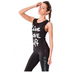Débardeur Femme Noir Live, Love, Lift pour CrossFiteuse - NASTY
