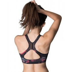 Brassière Femme rouge Stamina medium support pour Athlète by NASTY LIFESTYLE