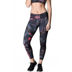 Training legging red FIRESTORM for women - NASTY LIFESTYLE