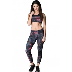 Legging Femme rouge Firestorm pour CrossFiteuse by NASTY