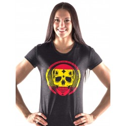 Boutique T-Shirt Noir Femme Crossfit - Spanish Skull