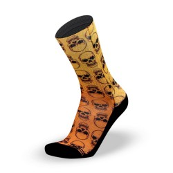 Orange workout Socks SKULLY – LITHE APPAREL