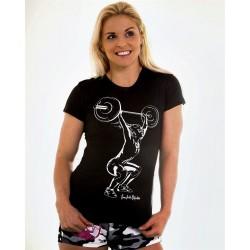 Boutique T-Shirt Noir Femme Crossfit - Anna Hulda