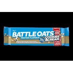 Barre protéinée Cookies & Cream pour Athlète by BATTLE OATS