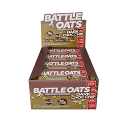 Pack de 12 barres protéinées Dark Choc Chip pour CrossFiteur by BATTLE OATS