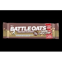 Pack de 12 barres protéinées Dark Choc Chip pour CrossFiteur by BATTLE OATS