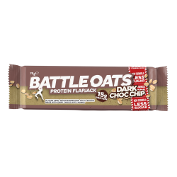 Barre protéinée Dark Choc Chip pour CrossFiteur by BATTLE OATS