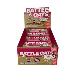 pack de 12 barres protéinées Berry Fusion - BATTLE OATS