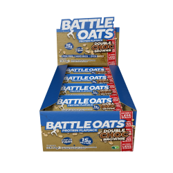 Pack de 12 barres protéinées Double Choc Brownie pour Athlète by BATTLE OATS