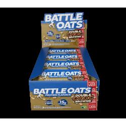 pack de 12 barres protéinées double choc brownie - BATTLE OATS