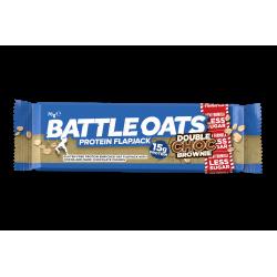 Pack de 12 barres protéinées Double Choc Brownie pour CrossFiteur by BATTLE OATS