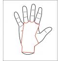Maniques de sport protège mains - AZOR grips 3 Marron