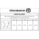 Genouillere entrainement Rehband 7mm Noir