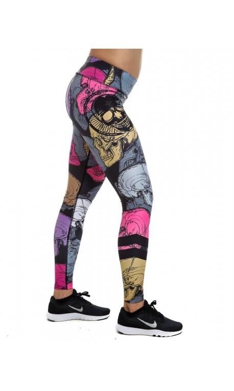 Legging Femme NOIR MULTI SKULL NORTHERN SPIRIT idéal CrossFiteuse
