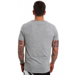 T-Shirt Raw Edge Homme Gris Clair Skull pour CrossFiteur by NORTHERN SPIRIT