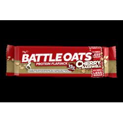 Barre protéinée Cherry Bakewell pour CrossFiteur by BATTLE OATS