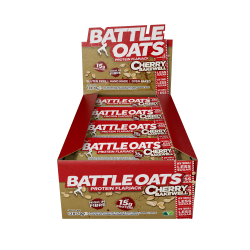 Pack de 12 barres protéinées Cherry Bakewell pour CrossFiteur by BATTLE OATS