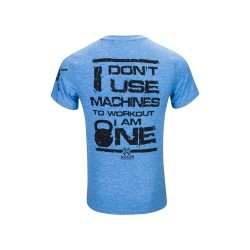 T-shirt Homme bleu I don't use machine pour CrossFiteur by XOOM