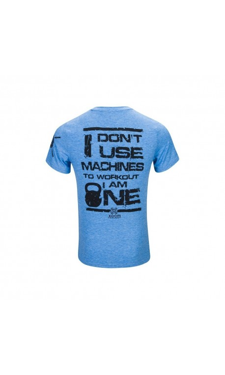 T-shirt blue I don't Use Machine for men - XOOM PROJECT