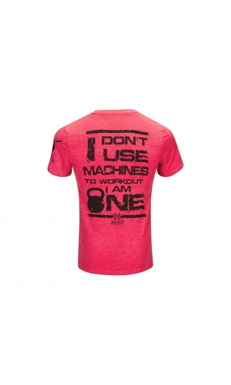 TSHIRT pour Athlète ROUGE XOOM I DONT USE MACHINE