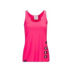 Débardeur Femme rose Pacman pour CrossFiteuse by XOOM