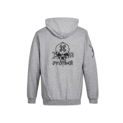 Sweat Homme Gris Skull logo pour CrossFiteur by XOOM