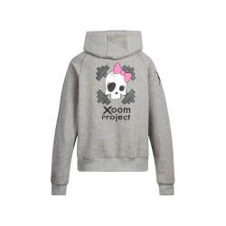 Hooded Sweatshirt Grey/Pink Skull women – XOOM PROJECT