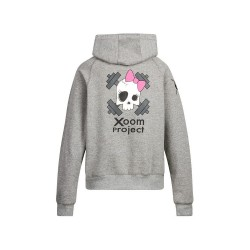 Sweat Femme Gris Pink Skull pour Athlète by XOOM