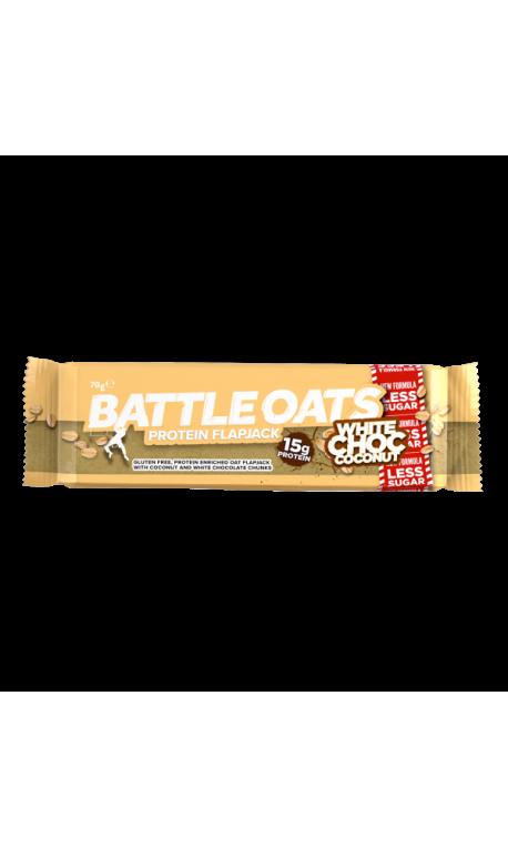 Barre protéinée White choc Coconut pour CrossFiteur by BATTLE OATS