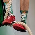 Chaussettes Multicolor Badass Tropical pour CrossFiteur by LITHE