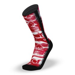 Red workout Socks SCARLET SKULLS – LITHE APPAREL