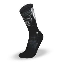 Black workout socks SILVER – LITHE APPAREL