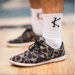 Chaussettes athlete 2.0 blanc logo Noir pour CrossFiteur by CAFFEINE AND KILOS