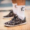 Chaussettes athlete 2.0 noires logo Blanc pour CrossFiteur by CAFFEINE AND KILOS