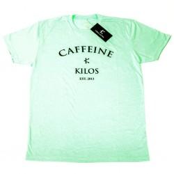 T-shirt Homme Vert menthe pour CrossFiteur - CAFFEINE & KILOS